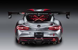 Bilder Toyota Coupe Grau Hinten GR Supra Track Concept, 2020 Autos