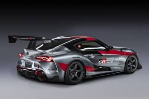 Hintergrundbilder Toyota Graue Coupe GR Supra Track Concept, 2020