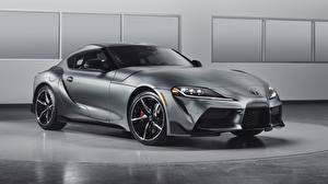 Wallpapers Toyota Grey Coupe Supra GR, 2020 Cars pictures images