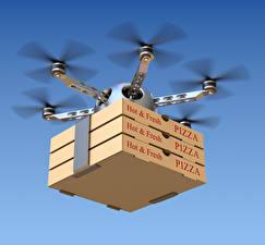 Fotos & Bilder UAV Pizza Flug Schachtel hexacopter Luftfahrt