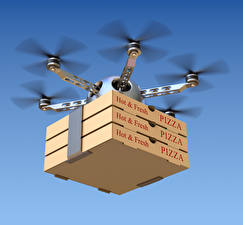Wallpapers UAV Pizza Flight Box hexacopter Aviation