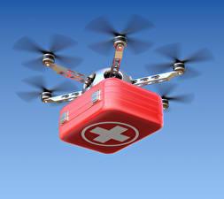 Bilder UAV Flug Koffer hexacopter Luftfahrt