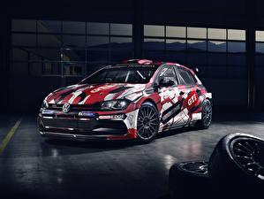 Bureaubladachtergronden Volkswagen Tuning 2019 Polo GTI R5 automobiel