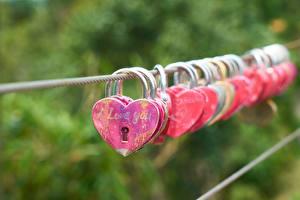 Tapety Serce Klucz Bokeh Angielski Słowo i love you Dziewczyny zdjęcia zdjęcie
