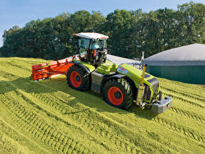 Hintergrundbilder Landwirtschaftlichen Maschinen Felder Traktoren 2010-20 Claas Xerion 5000 Trac VC