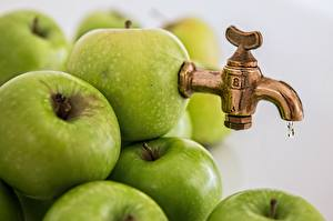 Image Apples Creative Green Tap