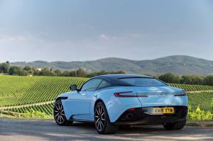 Papel de Parede Desktop Aston Martin Celeste De volta DB11 carro
