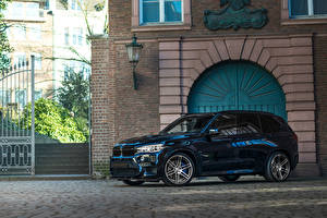 Wallpaper BMW CUV Blue Metallic 2015-20 Manhart MHX5 700 automobile