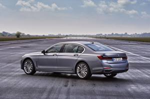 Pictures BMW Sedan Gray Metallic Side 7 series, G11/G12 Cars