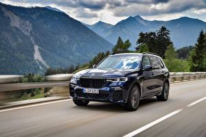 Image BMW Roads Mountains Motion CUV Metallic X7, G07 Cars