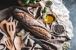 Fotos Brot Messer Schwarzer Pfeffer Lebensmittel