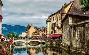 Bilder Brücken Gebäude Frankreich Kanal Annecy, Thiou River Städte