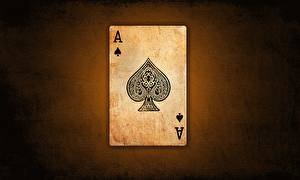 Bakgrundsbilder på skrivbordet Spelkort Närbild Ess spelkort