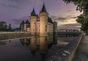 Bakgrunnsbilder Borg Frankrike Sully-sur-Loire Byer