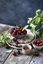 Hintergrundbilder Kirsche Bretter Lebensmittel