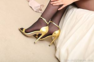 Picture Closeup Legs High heels Pantyhose
