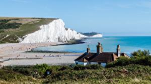 Image Coast Sea England Crag Seven sisters national Park, East Sussex Nature