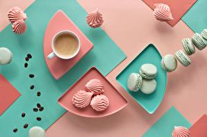 Wallpaper Coffee Zefir Cookies Mug Macaron Food