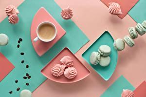 Wallpaper Coffee Zefir Cookies Mug Macaron