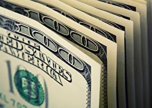 Bakgrundsbilder på skrivbordet Dollarn Närbild Sedlar 100