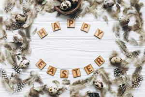 Wallpaper Easter English Text Template greeting card