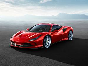 Hintergrundbilder Ferrari Rot F8 Tributo Autos