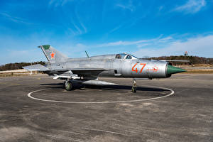 Pictures Fighter aircraft Airplane Russian Mig-21