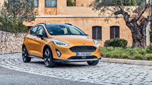 Hintergrundbilder Ford Orange Metallisch Fiesta Active 2018 automobil
