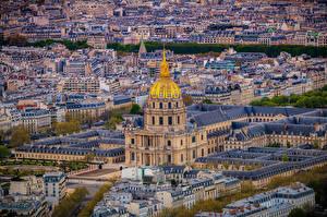 Sfondi desktop Francia La casa Parigi Vista dall'alto Montmartre Città
