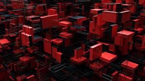 Papel de Parede Desktop Geometria 3D Gráfica