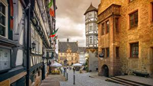 Photo Germany Houses Street Marburg, Hessen