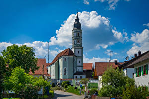 Picture Germany Building Temple Church Bavaria  Cities