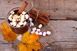 Hintergrundbilder Kakao Getränk Zimt Marshmallow Weinglas das Essen