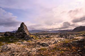 Hintergrundbilder Island Stein Wolke Felsen Natur