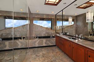 桌面壁纸,,室內,设计,浴室,鏡子,