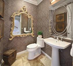 桌面壁纸,,室內,设计,馬桶,鏡子,