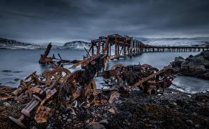 Bilder Irland Seebrücke Meer Alte  Natur