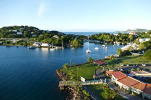 Photo Island Sea Bay Saint Lucia, Caribbean sea Cities