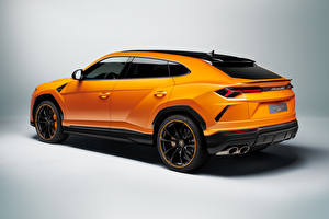 桌面壁纸,,藍寶堅尼,跨界休旅車,橙色,金屬漆,Urus, Pearl Capsule, 2020,汽车