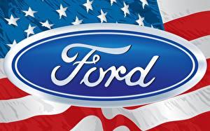 Bilder Logo Emblem Ford Amerikanisch Flagge