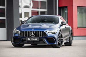 Bilder Mercedes-Benz Blau Metallisch Vorne G-Power, GP 63 Bi-Turbo, X290 Autos