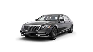 Pictures Mercedes-Benz Maybach White background Black Metallic Night Edition, S650 automobile