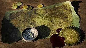 Hintergrundbilder Geld Münze Karte Alter Kompass
