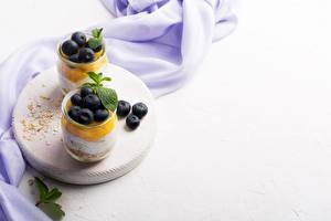 Hintergrundbilder Müsli Joghurt Beere Heidelbeeren Frühstück Vorlage Grußkarte