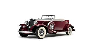 Wallpapers Retro Burgundy White background Cabriolet Marmon Sixteen Cars