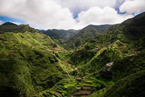 Bakgrunnsbilder Spania Fjell Åker Tenerife, Macizo de Anaga Natur