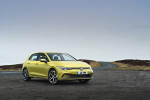 Bilder Volkswagen Gelb 2020 Golf Style