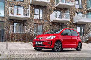Hintergrundbilder Volkswagen Rot Metallisch Coupe 2020 Volkswagen up! Black Edition
