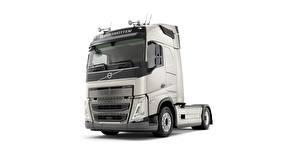 Hintergrundbilder Volvo Lastkraftwagen Weißer hintergrund FH 500 automobil