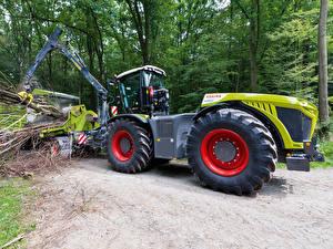 Tapety na pulpit Ciągnik rolniczy Wózek widłowy 2014-20 Claas Xerion 4000 Trac VC Worldwide